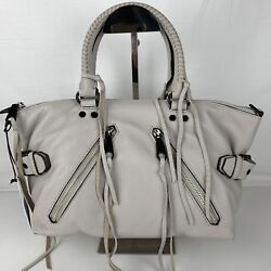 New Rebecca Minkoff Moto Large Leather Satchel Style HS26MMOS26