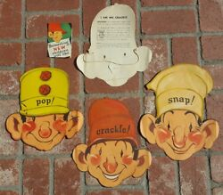 RARE 1933 Snap Crackle Pop KELLOGG's Mask rice krispies VERNON GRANT advertising