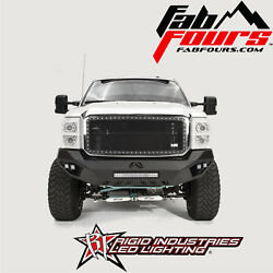Fab Fours Vengeance Front & Rear Bumper W Rigid Lights For 11-16 Ford SuperDuty