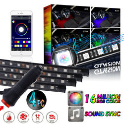 4X Interior RGB Floor LED Neon Strip Light Wireless Music Control APP Control $19.00