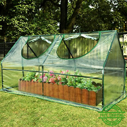 Mini Cloche Greenhouse Plant Shed Cover Frame Portable Gardening Plastic Clear