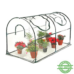 Mini Portable Greenhouse Plant Shed Cover Frame Indoor Outdoor Gardening Clear