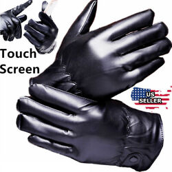 Men Women Winter Gloves Touch Screen Windproof Waterproof Leather Thick Snow USA $9.93
