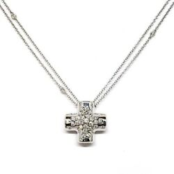 Damiani Paradise Collection Cross Pendant With 18k White Gold And Diamonds New!
