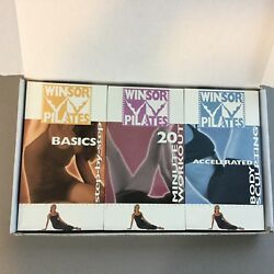 Winsor Pilates VHS 3 Set with Diet Book Total Body 20 Minute Basic Accelerated