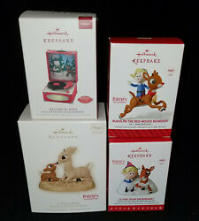 NEW Hallmark RUDOLPH RED NOSED REINDEER MAGIC 50th Hermie Hero Record Snowbank