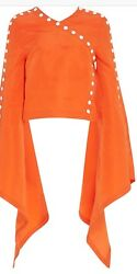 NWT Rosie Assoulin Women's She Come Undone Top SZ Small  Blouse MSRP $2695.00