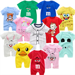Newborn Infant Baby Boy Girl Kids Cotton Romper Jumpsuit Bodysuit Clothes Outfit $5.98