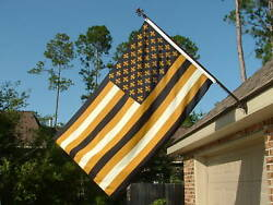 New Orleans Saints American Black and Gold Flag