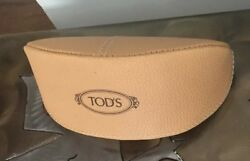 Light Brown Leather TOD'S Eyeglasses Sunglasses Case $10.00