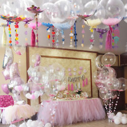10182436 inch Clear Transparent Big Balloons NO Wrinkle Party Birthday Decor