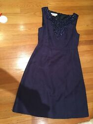 KAY UNGER Purple PARTY COCKTAIL SLEEVELESS DRESS SIZE 10 With Lace patterned $39.99