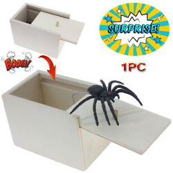 1PC Wooden Prank Spider Horror Scare Box Hidden in Case Trick Play Joke Gag Toys