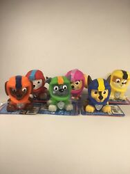 SET OF (6) PAW PATROL SEA PATROL BATH SQUIRTERS - NEW WITH TAGS - FREE SHIPPING