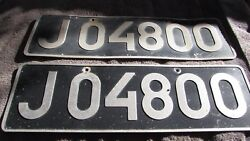 VERY RARE SET OF 1980'S ICELAND LICENSE PLATES KEFLAVIK AIRPORT FOREIGN EMPLOYEE