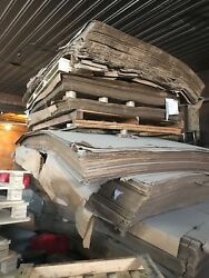 Cardboard Sheets 6ft wide by 10-12ft long brown in color $500 for all of it.