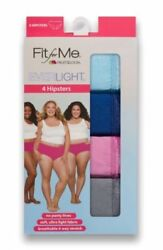 Fruit of the Loom Fit For Me 4 Women's Everlight Hipsters Breathe Plus Size 9 $13.50
