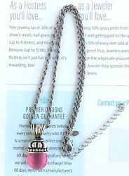 Premier Designs Jewelry Antiqued matte silver plated faux glass necklace