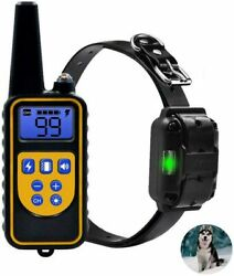 Dog Training Collar Shock Remote Waterproof Rechargeable 880 Yard Pet Large New $40.99