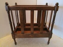 Vintage Butler Specialty Company Magazine rack wooden # 74006 17