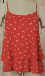 NWT Womens GAP Luxe Cami Red Print 100% Rayon 976458 $19.24