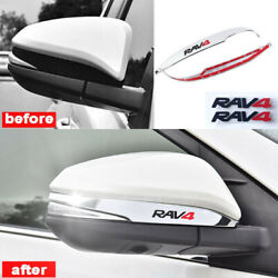 ABS Chrome Car Rearview Side Mirror Decorate Cover Trim For Toyota RAV4 2014-18