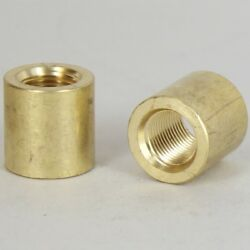 SOLID BRASS Pipe Nipple Coupling 1 4 IPS to 1 4 IPS Lamp Parts #YB45 $1.50