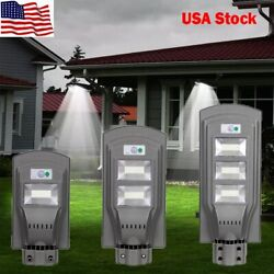 20W 40W 60W LED Solar Powered Wall Street Light Walkway Outdoor Garden Lamp US $43.56