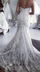 NORMA BRIDAL COUTURE CUSTOM DESIGN  LACE WEDDING DRESS GOWN SZ 8 $8500