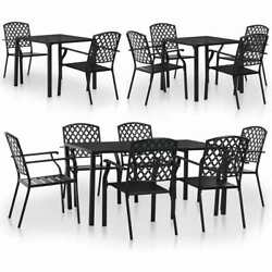 vidaXL Outdoor Bistro Set Mesh Metal Stacking Garden Furniture 3579 Pieces