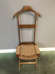 Ico Parisi Italian Cord Valet Chair - Fratelli Reguitti - MCM Rope Butler Chair