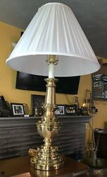 Beautiful Brass Stiffel Table Lamp with Original White Shade High Quality $177.77