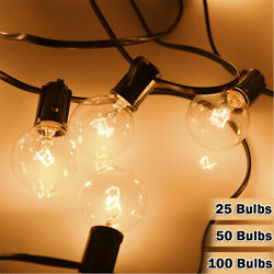 2550100 Bulbs G40 Clear Outdoor Patio Globe String Bulb Festoon Party Lights