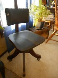 Antique Office Chair Cook Quality Wood Steampunk late 19th Century ? Steampunk $310.00