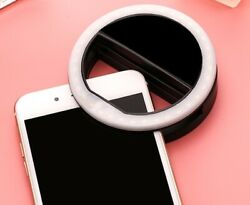 LED Portable Mini Selfie Clip On Ring Light Lamp Picture Lighting for Smartphone $9.99