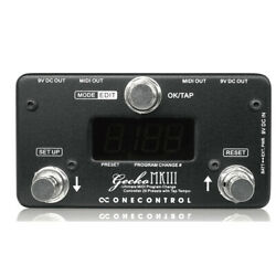 One Control Effects Gecko MKIII Compact Programable MIDI Switcher 20 Presets $149.00