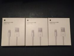 (3) New OEM Original Lightning Usb Charger Cable Cord Apple iPhone X876s65s