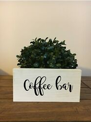 Coffee Bar Sign Rustic Chic Bathroom Sign Handmade with Hanging Hardware $13.00