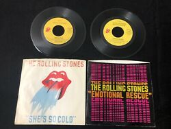 The Rolling Stones She's So Cold Send It To Me Emotional Rescue 45 RPM