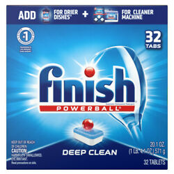 Finish All in 1 Powerball Fresh Dishwasher Detergent Tablets 32 ct $10.93