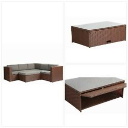 Baner Garden Outdoor Furniture Complete Patio Cushion PE Wicker Rattan Garden Co