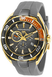Technomarine TM-118046 NEW 2019 Cruise California Gold and Gray W Orange Accent