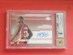 Lebron James 2003-04 Upper Deck Finite Signatures RC Rookie BGS 910 Auto WOW