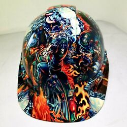 Hard Hat custom hydro dipped  OSHA approved FULL COLOR DEATH RIDER !!!NEW!!!!