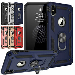 For iPhone XS Max XR XS X 6 6s 7 8 Plus Magnetic Phone Case with Bracket Cover