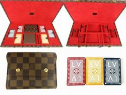 Louis Vuitton SPO Special Order Trump Card Game Hard Case Damier Ex++ Rare
