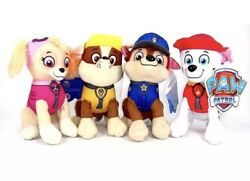 8quot; Paw Patrol Plush Stuffed Animal Toy Set: Chase Rubble Marshall amp; Skye $22.99