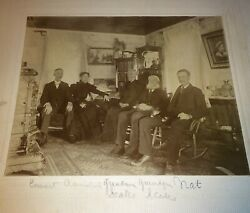 Antique Victorian Family Pet Cats Old ID#x27;d Scole Family Cabinet Photo $29.99