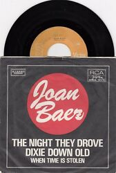 JOAN BAEZ THE NIGHT THEY DROVE OLD DIXIE TOWN 1971 RECORD YUGOSLAVIA 7