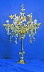 Murano Table lamp Imperiale gold crystal $959.00